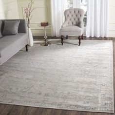 Safavieh Archive Grey/ Blue Rug (9' x 12') - Free Shipping Today - Overstock.com - 18661125 - Mobile