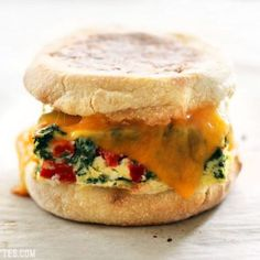 Veggie Packed Freezer Ready Breakfast Sandwiches are a filling, delicious, and microwavable make ahead breakfast for busy mornings. Make Ahead Breakfast, Breakfast Recipes, Dinner Recipes, Breakfast Ideas, Frozen Breakfast, Breakfast Club, Breakfast Bowls, Dessert Recipes, Freezer Breakfast Sandwiches