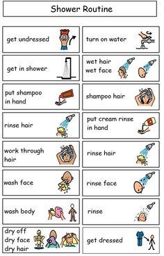 Sample shower mini schedule