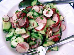 Radish, Cucumber & Chive Salad Recipe