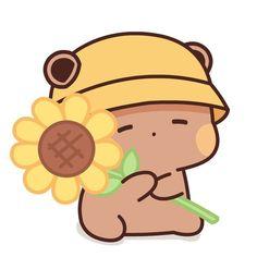Cute Panda Drawing, Cute Animal Drawings Kawaii, Cute Kawaii Animals, Cute Drawings, Cute Love Pictures, Cute Love Gif, Cute Cat Gif, Cute Panda Wallpaper, Kawaii Wallpaper