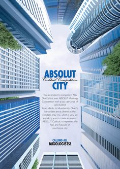 Absolut City. Creative advertising and marketing campaign designs