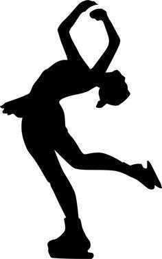 Attitude Spin Figure Skating Stencil by Crafty Stencils Kirigami, Skate Girl, Figure Skating Costumes, High School Art, Skating Dresses, Ice Skating, Spinning, Attitude, Stencils
