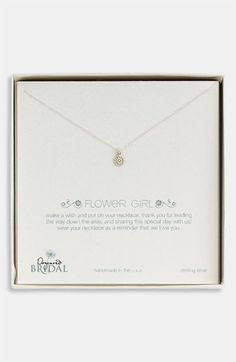 Dogeared 'Flower Girl' Pendant Necklace (Nordstrom Exclusive) available at Nordstrom