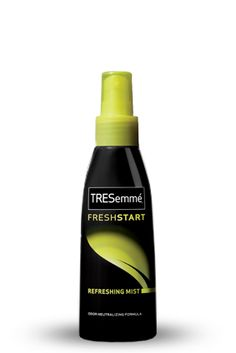 TRESemme Fresh Start Refreshing Mist:  Add shine and neutralize odor in between shampoos with this unique spray. A quick spritz transforms dull, lifeless hair into shiny, smooth strands.  #TRESemme #FreshStart #refreshing #mist