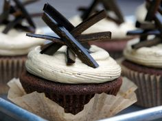 Gingerbread Cupcakes with Black Licorice Frosting from CookingChannelTV.com