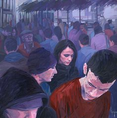 Up & down II_ 70x70cm _ Acrylic on canvas 2008 David Agenjo