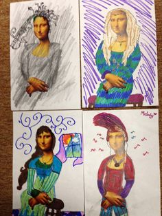 Baldwinsville Christian Academy: Studio art lesson with grades Complete the Mona Lisa Mona Lisa Parody, 3rd Grade Art, Classic Image, Studio Art, Craft Activities For Kids, Zentangles, Art Studios, Art Education, Art Lessons
