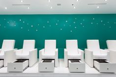 Lux pedicure chairs opened