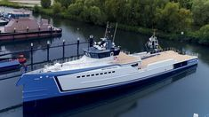 Damen launches yacht support vessel New Frontiers #luxuryyachts