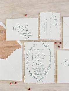 Os convites de casamento mais lindos para um casamento de dia