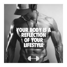 YOUR BODY IS A REFLECTION OF YOUR LIFESTYLE #gymtime #gymquotes #gymmotivation
