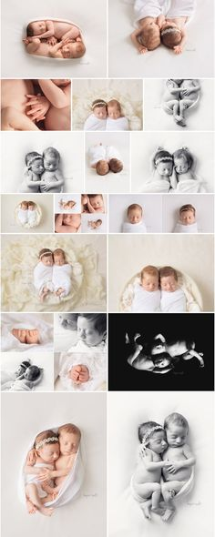 Simple, naturally posed newborn boy girl twins studio session. Hope + Salt Photography Burlington Ontario Baby Photographer