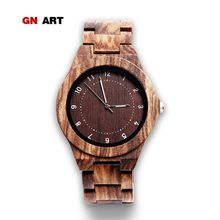 f37732e6306 GNART Natural Handmade Wooden Case Watches for Men and Women in Quartz  Watches for Men Gifts Digital Bracelet Wristwatches Clock(China)