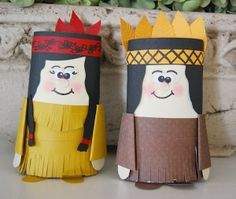indian couple from toilet paper tubes