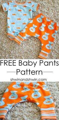 Free Baby Pants Pattern    PDF Pattern    Shwin&Shwin
