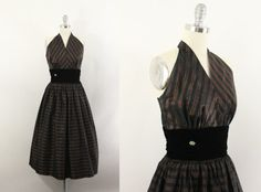 Hey, I found this really awesome Etsy listing at https://www.etsy.com/listing/209723519/50s-dress-and-jacket-1950s-taffeta-black