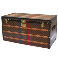 1930's Louis Vuitton Courier Trunk   From a unique collection of antique and modern trunks and luggage at https://www.1stdibs.com/furniture/more-furniture-collectibles/trunks-luggage/