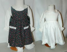 Toddler's White Print Dress with Black Print by LindaLuDesigns, $45.00