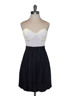 Eyelet Bustier Dress; kinda like it.