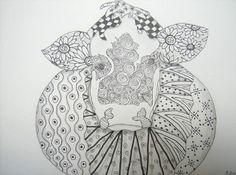 Cow doodle - self portrait you say........