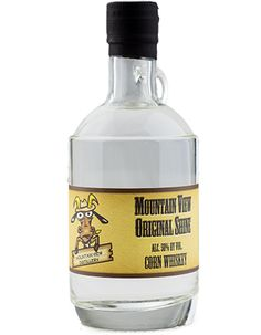 Original Moonshine Straight corn whisky. This is our closest to neutral spirit. You can use it in place of tequila and it makes an incredible margarita.  50% alcohol by volume Pennsylvania moonshine made at Mountain View Vineyard in the Poconos.