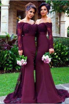 Sexy Prom Dress, Long Sleeve Prom Dress,Mermaid Prom Dress,Long Evening Dress,Formal Evening Gown by fancygirldress