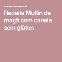 Receita Muffin de maçã com canela sem glúten