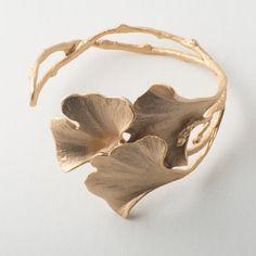 Ginkgo Cuff Bracelet - Gold by Michael Michaud