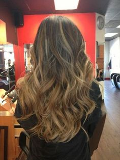 dark blonde ombre - usually don't like ombres but this is cute