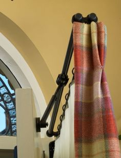 Delicieux Rising Portiere Rod Black (others Are Available If Searched To) Door Curtain  Pole,