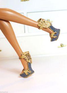 dollsalive fashion royalty JEM ,COLOR INFUSION snake print leather shoes