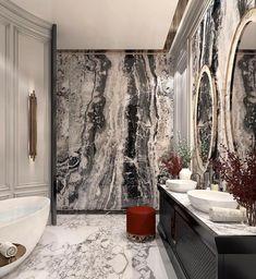 Interior Decorating Made Fun And Easy – Marble Bathroom Dreams Interior Design Colleges, Best Interior Design, Interior Decorating, Decorating Tips, Diy Bathroom Decor, Modern Bathroom, Bathroom Marble, Small Bathroom, Home Decor Instagram