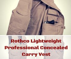Here's a sneak peak of Rothco's Lightweight Professional Conealed Carry Vest. #tactical #concealed #carry #military