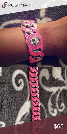 Marc by Marc Jacobs bracelet Hot pink and silver bracelet. It was given to me as a gift, worn once or twice. Just trying to downsize Marc by Marc Jacobs Jewelry Bracelets