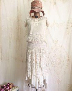 1920s Lace Flapper Dress / Vintage Flapper Dress / 1920s Dress / Small