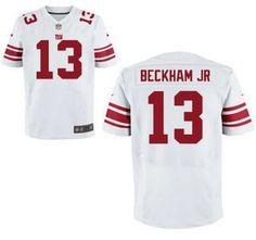 2014 NFL Draft New York Giants Jersey #13 Odell Beckham Jr. White Elite Jerseys