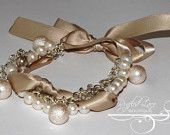 16 Colors - Freshwater Pearl Bracelet with Satin Ribbon Bow - Baby Girl Toddler Child - Genuine Authentic Pearls - White, Round 7-8mm. $16.50, via Etsy.