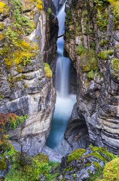 Maligne Canyon in Jasper National Park Jasper, Alberta, Canada #CanadianRockies