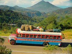 El autobus tipico en Guatemala/ public transportation #conozcamosguate... Memories