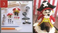 Pirate cake topper Parts 3 & 4