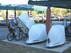 Secure public bike parking