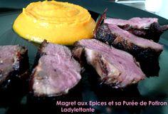Magret de Canard aux Epices et sa purée de Potiron