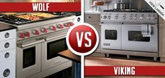 Viking Ranges Vs Wolf Ranges - double oven, different gas burner configurations