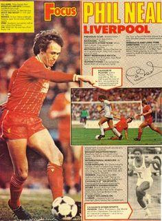 Focus On Liverpool defender Phil Neal in Shoot! magazine in Retro Football, Football Shirts, Football Players, Liverpool Football Club, Liverpool Fc, Phil Neal, Bob Paisley, Gerrard Liverpool, English Football League