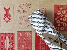 SARDINHA Christmas Gift Tag by Filipe Lizardo, via Behance