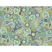 Kentshire Fabric, Paisley Turquoise