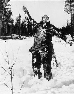 Finnish soldiers sometimes took fallen, frozen Soviet soldiers and posed them upright as psychological warfare to intimidate Soviet troops. During the Winter War, many of the soldiers were from the south and hadn't ever experienced harsh winter conditions and ended up freezing to death due to lack of supplies.