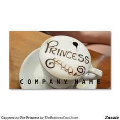 Cappuccino For Princess Business Card Business Cards, Food And Drink, Soap, Princess, Drinks, Drinking, Beverages, Visit Cards, Carte De Visite