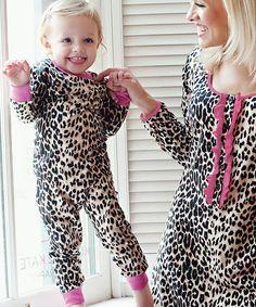 Leopard Pajama Set - Toddler & Girls. i want a matching set for khia and i <3